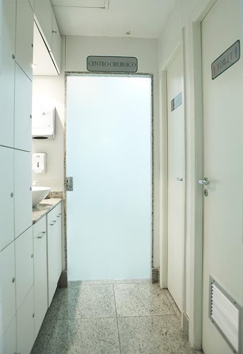 Vestiário do Centro Cirúrgico